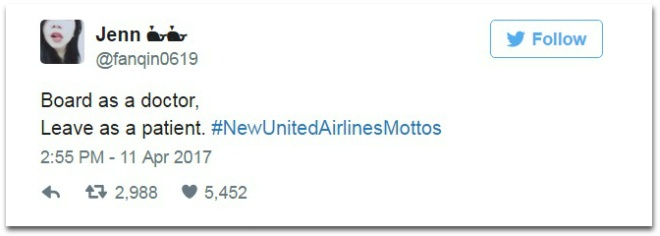 Cu dan mang mia mai United Airlines bang trao luu khau hieu che hinh anh 3