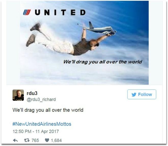 Cu dan mang mia mai United Airlines bang trao luu khau hieu che hinh anh 7