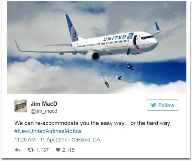Cu dan mang mia mai United Airlines bang trao luu khau hieu che hinh anh 8