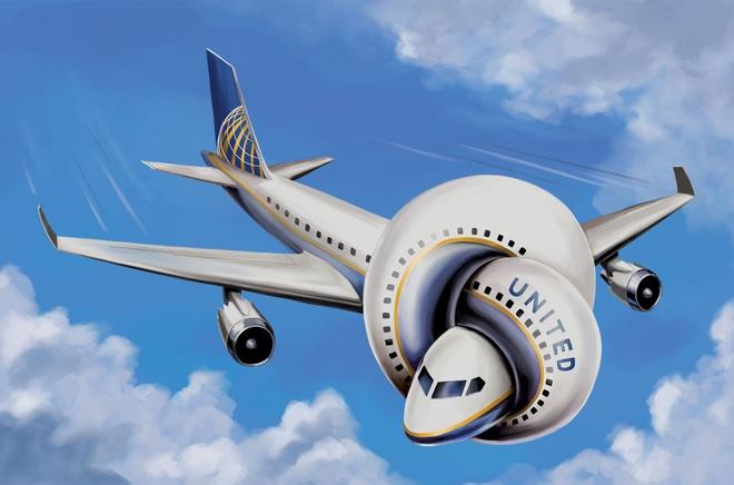 Cu dan mang mia mai United Airlines bang trao luu khau hieu che hinh anh