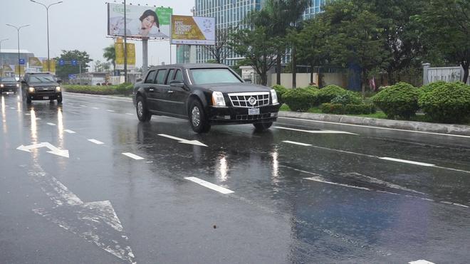 Dan xe cua Tong thong Trump lan banh o Da Nang hinh anh