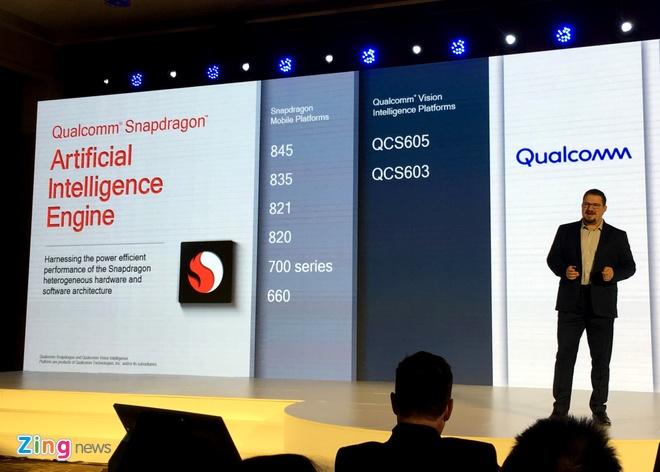 Qualcomm cong bo Snapdragon 710, mang AI den thiet bi tam trung hinh anh