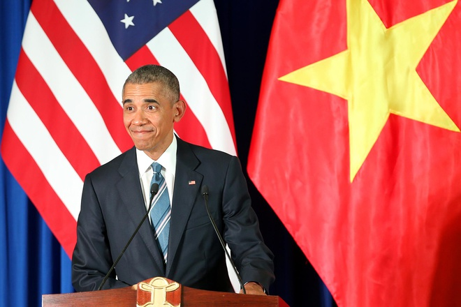 10 phat ngon an tuong cua Obama khi tham Viet Nam hinh anh