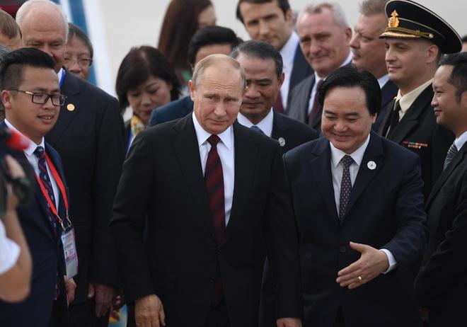 Le don tiep Tong thong Nga Putin o san bay Da Nang hinh anh