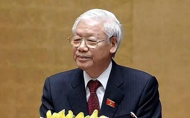 Tan Chu tich nuoc Nguyen Phu Trong phat bieu nham chuc hinh anh
