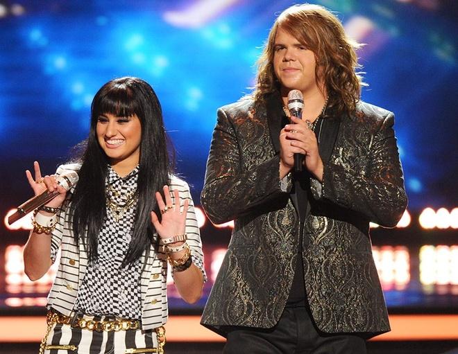 Top 2 American Idol bat phan thang bai trong dem chung ket hinh anh 1 Top 2 American Idol: Jena Irene và Caleb Johnson trong đêm chung kết.