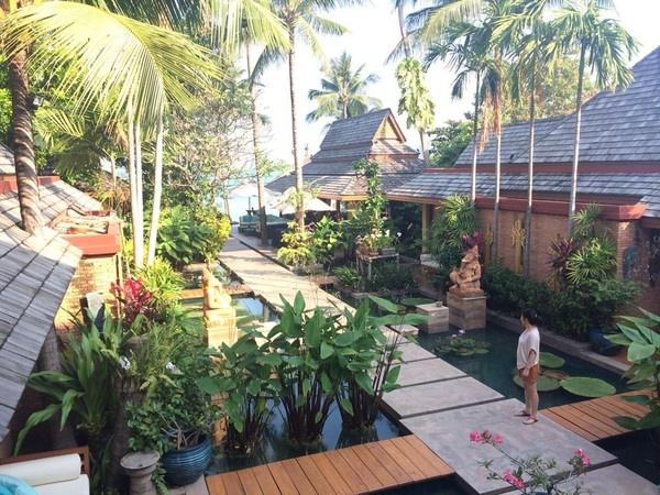 Bên trong khu resort của vợ chồng ca sĩ Thu Minh được trang trí khá gần gũi với thiên nhiên. Koh Samui còn có hình thức du lịch kết hợp với giải độc cơ thể (detox).