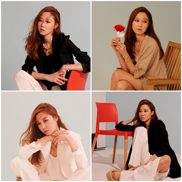 Anh thoi trang khong can photoshop cua sao Han hinh anh 4 Từng là người mẫu, Gong Hyo Jin hầu như không cần nhờ đến photoshop khi chụp hình quảng bá cho hãng J.ESTINA RED. Vóc dáng nữ diễn viên hầu như trong trạng thái chuẩn mực, cộng thêm diễn xuất thần thái, tự nhiên.