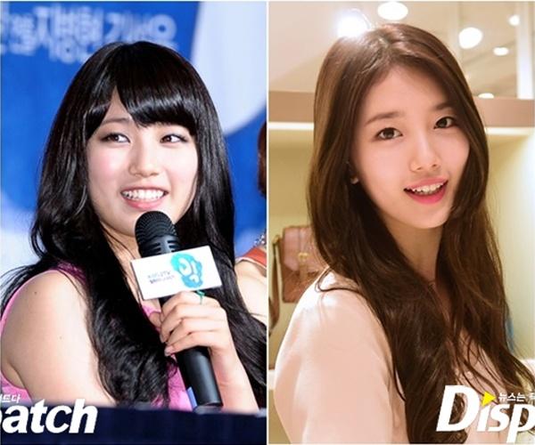 Nhung kieu nu Han 'lot xac' sau khi giam can hinh anh 2 Cùng với Park Shin Hye là Suzy từng có thời điểm thừa cân. Sau khi giảm bớt trọng lượng cơ thể, hai gò má của bạn gái Lee Min Ho lộ rõ hơn, khuôn mặt thon gọn trông thấy.