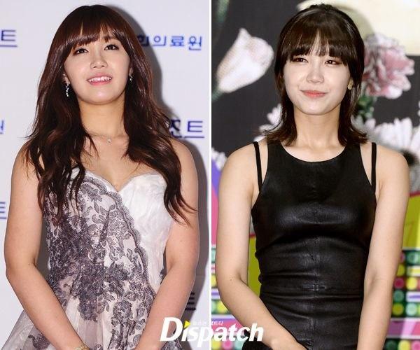 Nhung kieu nu Han 'lot xac' sau khi giam can hinh anh 7 Thành quả giảm cân của Jung Eun Ji trong nhóm A Pink là hai cánh tay bớt đi phần bụ bẫm. Bí quyết của cô là tránh thức ăn có nhiều chất béo.
