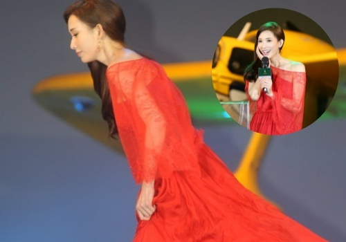 Lam Chi Linh vap giay cao got, suyt nga tren san khau hinh anh