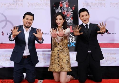Trieu Vy, Huynh Hieu Minh duoc in dau tay o Hollywood hinh anh
