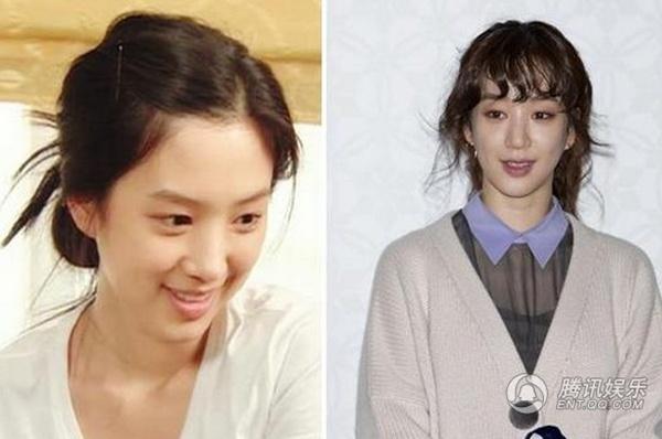 My nhan Han mat cung do, bien dang vi tham my hinh anh 5 Jung Ryeo Won - mỹ nhân phim Tên tôi là Kim Sam Soon bị nghi vấn gọt mặt. Hiện, gương mặt của cô có nét xô xệch.
