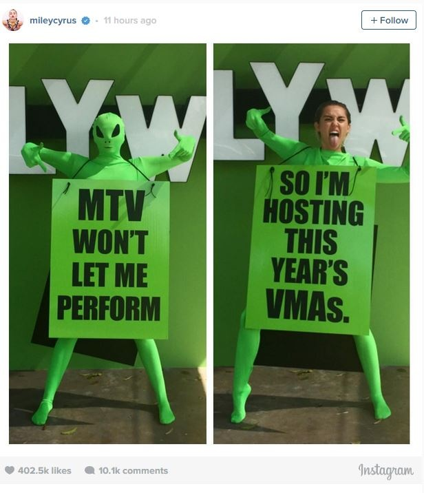 Miley Cyrus tro thanh host Video Music Award 2015 hinh anh 1