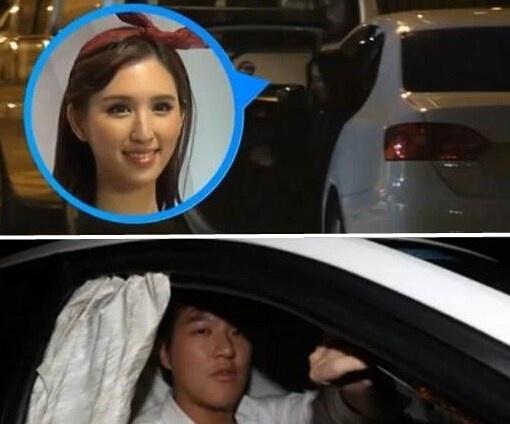 Kieu nu TVB vui ve voi thieu gia trong xe hoi hinh anh 1 Hà Ngạo Nhi và bạn trai trẻ trong xe 4 tiếng đồng hồ.