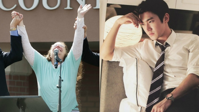 Choi Si Won phai xin loi vi phan doi hon nhan dong gioi hinh anh 1 Kim Davis (trái) bị phản đối vì không ký đơn đăng ký kết hôn cho hai cặp đồng tính Mỹ.
