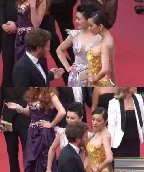 Sao Hoa ngu roi vao canh be bang tren tham do quoc te hinh anh 9 Cô không nắm được quy định về thời gian trên thảm đỏ và liên tục bị nhân viên an ninh nhắc nhở. Đáp lại, nữ diễn viên thể hiện sự khó chịu ra mặt.