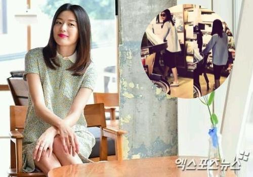 Jeon Ji Hyun manh mai du mang bau 4 thang hinh anh