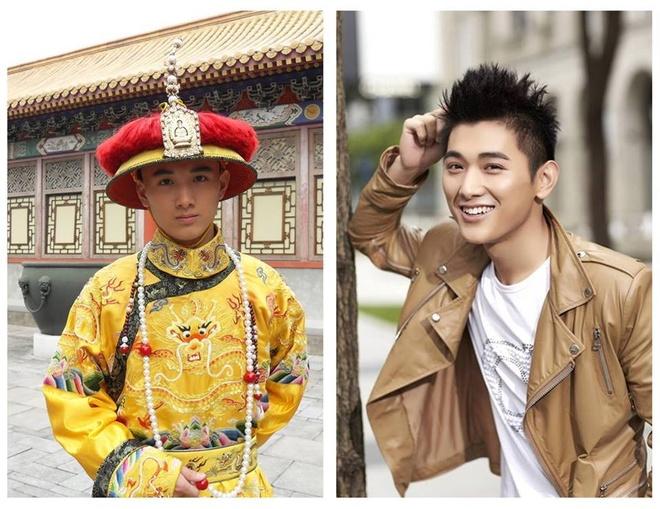 Doi tu 7 sao nam phim 'Chan Hoan truyen' hinh anh 7 Vương Văn Kiệt trong vai Hoàng Đế Càn Long (bên trái).