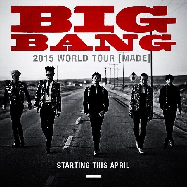 Big Bang ap dao EXO, SHINee luot tai ca khuc nam 2015 hinh anh 2 Big Bang sắp đi tour ở châu Mỹ và Australia.
