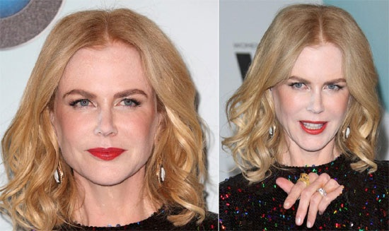 Diem mat sao tu bien minh thanh tham hoa trang diem hinh anh 2 Gu trang điểm bự phấn và loang lổ của nữ diễn viên nước Úc Nicole Kidman đã khiến cô trở thành thảm họa make -up.