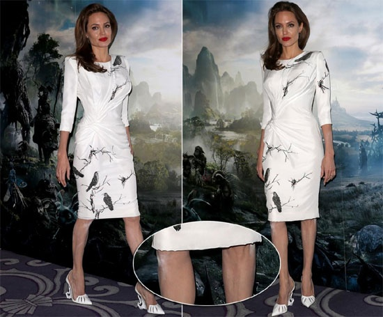 Diem mat sao tu bien minh thanh tham hoa trang diem hinh anh 8 Angelina Jolie nhiều lần bị mắc lỗi trang điểm. Tại sự kiện quảng bá bộ phim
