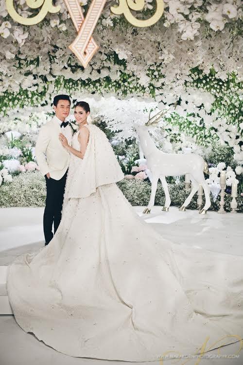Nhung dam cuoi trieu USD cua sao chau A hinh anh 2 Không gian cưới sang trọng của nữ hoàng giải trí Thái Lan.