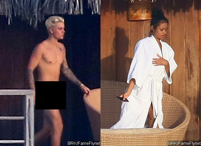 Justin Bieber dang anh nguc tran sau khi bi ro ri anh nude hinh anh 1
