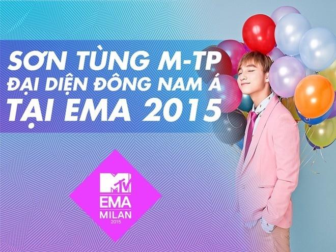 Loi the cua Son Tung M-TP khi tranh giai tai MTV EMA 2015 hinh anh 1