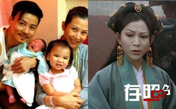 Thái Thiếu Phân bên gia đình nhỏ (trái) và trong phim.