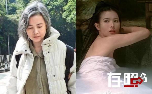 Lam Khiết Anh già nua và mắc bệnh tâm thần tuổi già.