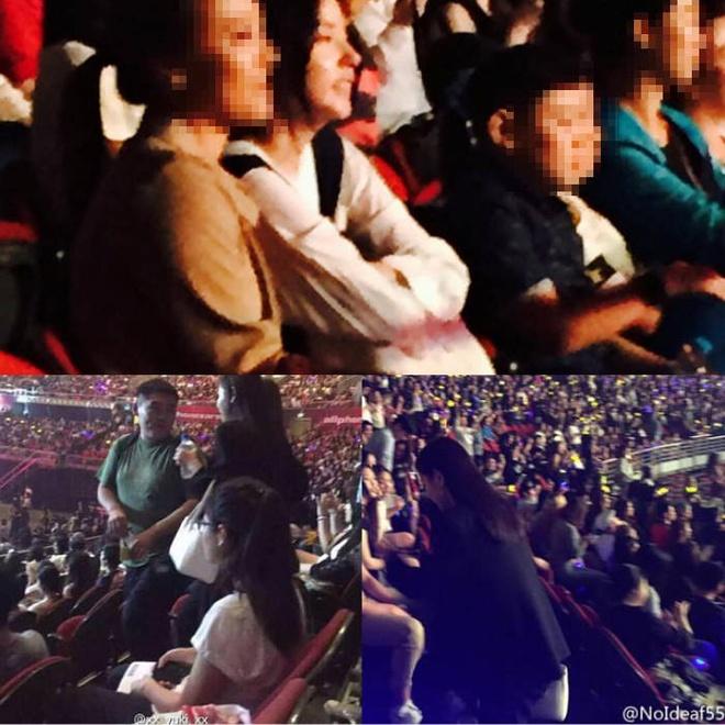 Ban gai chan dai den ung ho Taeyang Big Bang hinh anh 1 Min Hyo Rin bị bắt gặp đi xem concert của Big Bang - nhóm nhạc mà bạn trai cô là thành viên.