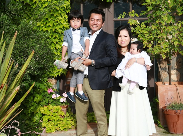 Gia đình hạnh phúc của Trương Minh Cường