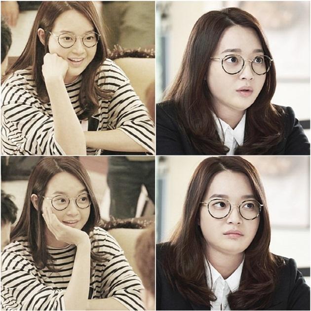 Shin Min Ah don 30 kg trong phim moi hinh anh 1 Bộ dạng của Shin Min Ah trong tạo hình béo phì của phim mới.