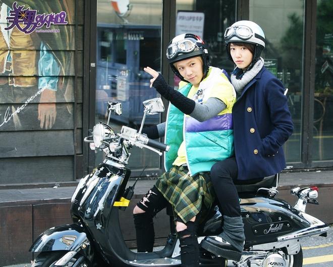 Park Shin Hye dong MV solo cua Lee Hong Ki hinh anh 1 Lee Hong Ki và Park Shin Hye trong bộ phim You′re Beautiful năm 2009.
