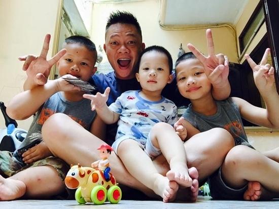 Dieu it biet ve con cua cac MC Viet noi tieng hinh anh 1 Ba nhóc tỳ dễ thương của gia đình Quang Minh