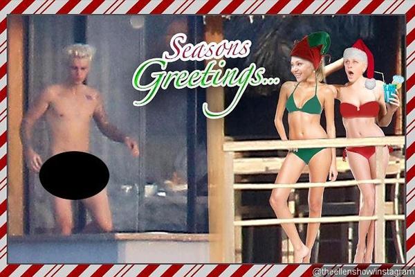 MC Ellen che anh nude cua Justin Bieber hinh anh