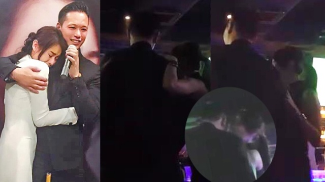 Chong sap cuoi Ho Hanh Nhi om co gai la trong bar hinh anh 1