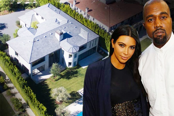 Vo chong Kim Kardashian ban biet thu bo khong hinh anh
