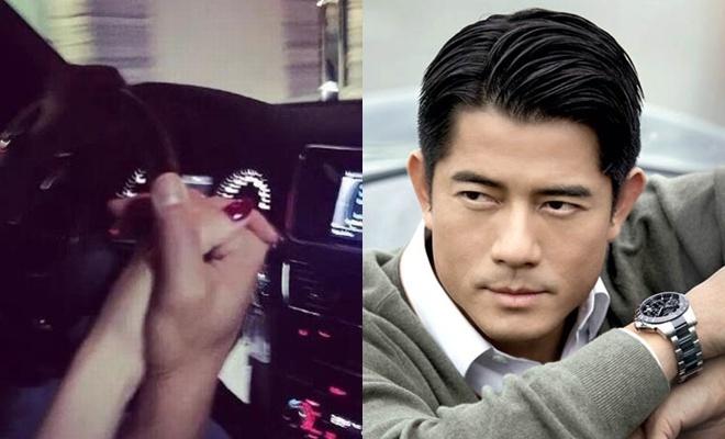 Quach Phu Thanh thua nhan yeu chan dai kem 23 tuoi hinh anh 1 Quách Phú Thành chia sẻ ảnh tình cảm trên xe hơi với Phương Viện.