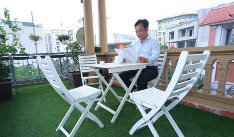 Tham nha rieng 26 m2 cua Quang Teo o Ha Noi hinh anh