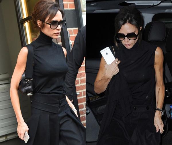 Victoria Beckham lo canh tay loi lom hinh anh 2 Cánh tay cơ bắp của biểu tượng thời trang nước Anh.