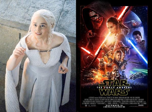 Ed Sheeran noi hon Taylor Swift tren Facebook hinh anh 2 Game Of Thrones và Star Wars: The Force Awakens là 2 bộ phim được cư dân mạng bàn tán nhiều nhất trên Facebook năm 2015.