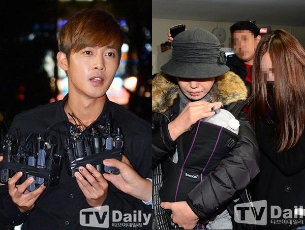 ADN chung nhan Kim Hyun Joong co con trai hinh anh 1 Kim Hyun Joong và bạn gái cũ họ Choi đến xét nghiệm ADN hôm 14/12.