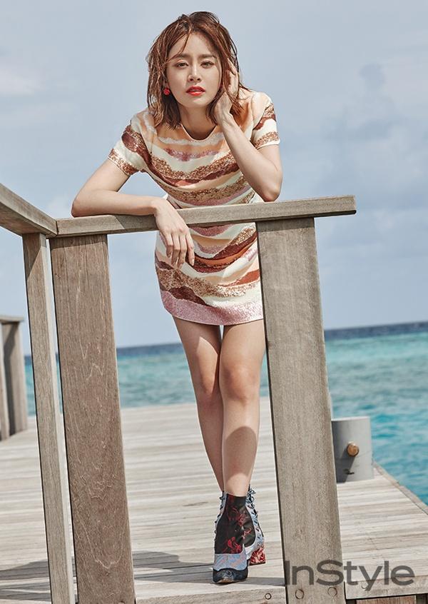 Kim Tae Hee khoe net tuoi tre tren tap chi hinh anh 5