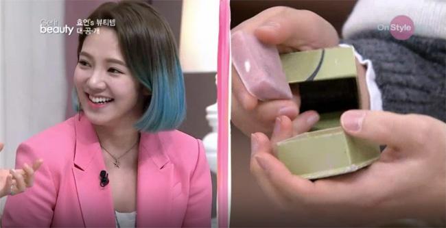 Hyoyeon (SNSD) su dung hop my pham ngheo nan hinh anh 1