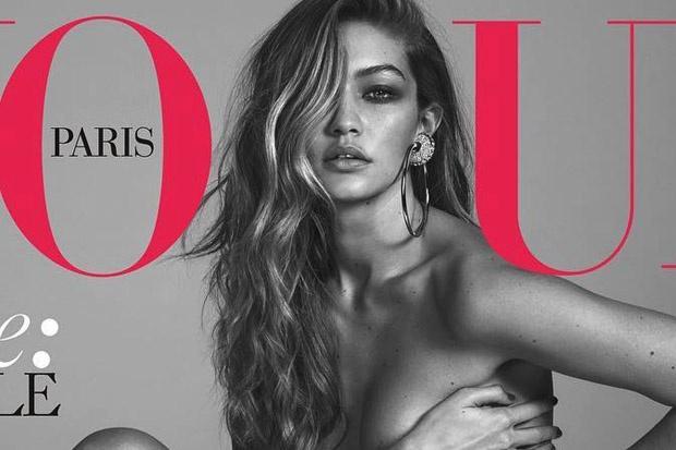 Gigi Hadid tao bao tren Vogue Phap hinh anh 1