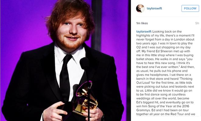 Taylor Swift viet thu xuc dong cho Ed Sheeran hinh anh 2
