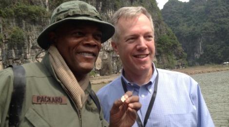 Samuel L Jackson he lo phim truong 'King Kong' o Ninh Binh hinh anh