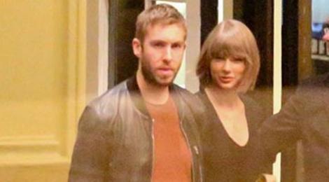 Taylor Swift va ban trai tay trong tay o khach san hinh anh